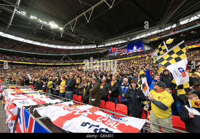in the fa cup final at crystal palace stock photos in. Black Bedroom Furniture Sets. Home Design Ideas