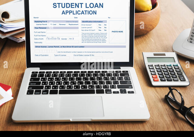 Student Loan Application Form Glasses Stock Photos  Student Loan