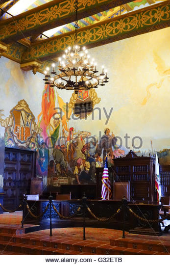 California history murals stock photos california history murals stock images alamy for Mural room santa barbara