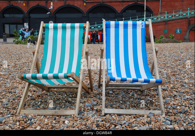 Deck Chair Beach Uk Stock Photos Amp Deck Chair Beach Uk