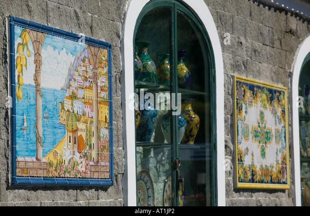 Ceramic Shop In Positano Amalfi Stock Photos Amp Ceramic