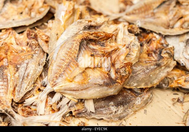 Thai market fish stock photos thai market fish stock for Dried salted fish