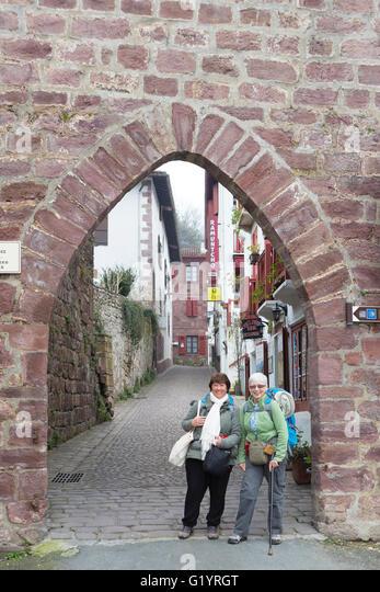 St jean pied de port stock photos st jean pied de port stock images alamy - St jean pied de port to santiago ...
