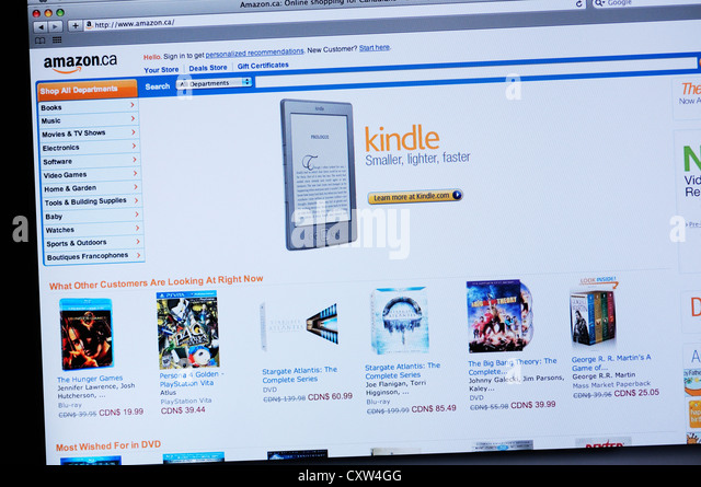 how to buy kindle books from amazon com in canada