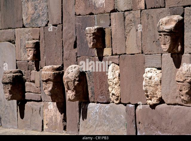 Tiwanaku civilization stock photos