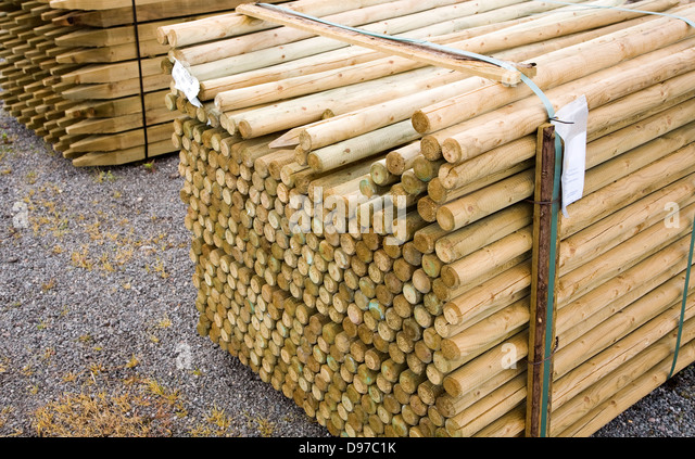 Round Wooden Fence Posts