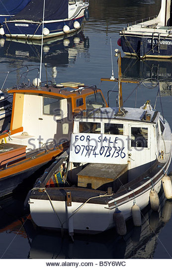 Boat for sale uk stock photos boat for sale uk stock for Small fishing boats for sale