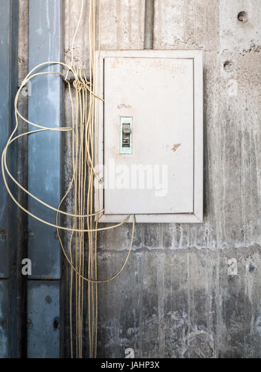 fuse box lock stock photos & fuse box lock stock images alamy breaker box door old metal box for electrical control with the complex wire on the factory wall