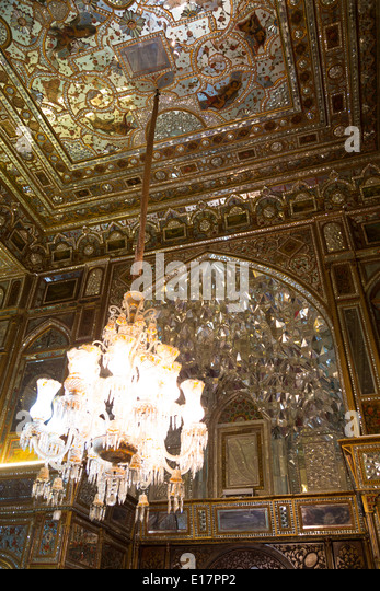 Mirror palace stock photos mirror palace stock images alamy chandeliers and intricate angled mirrors in a reception room of the shahs palace tehran aloadofball Gallery