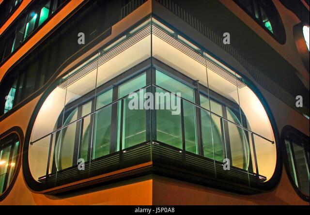 eckfenster house building modern modernity window porthole dormer pane night stock image archicad 17