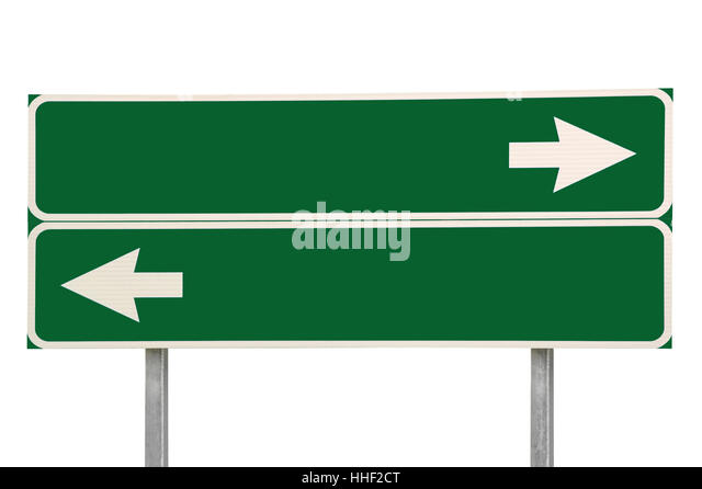 Road Traffic Sign Two Arrows Stock Photos & Road Traffic ...