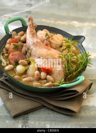 ... garonne midi pyrenees france spiny lobster cassoulet with shallots