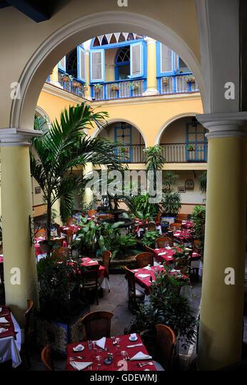 Restaurant El Patio, Plaza De La Catedral, Oldtown La Habana, Havana, Cuba