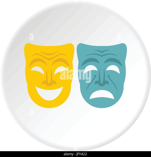 Happy And Sad Mask Stock Vector Images - Alamy