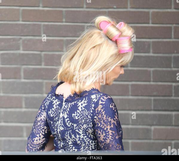 My Husband Wears Hair Rollers Carol Wright Stock Photos
