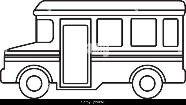 Bus School Isolated Icon