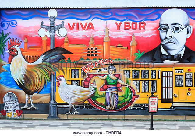 Ybor city tampa stock photos ybor city tampa stock for City of tampa mural