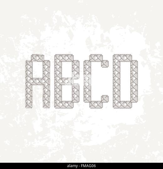 Knitting Embroidery Letters : Embroidered alphabet stock photos