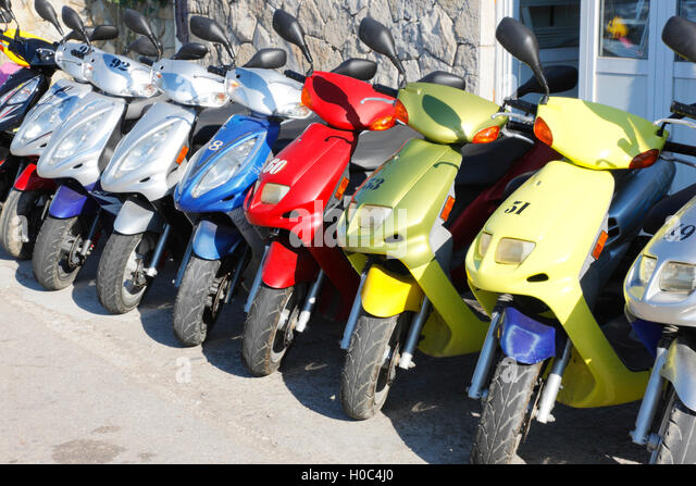 Scooter Rental Stock Photos Scooter Rental Stock Images