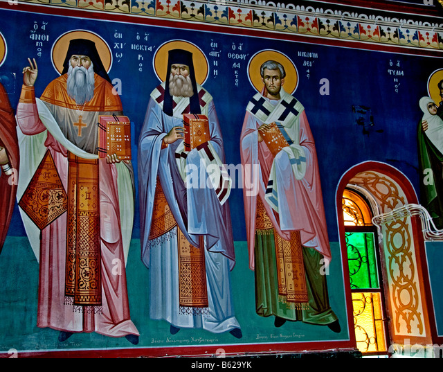 Orthodox mural stock photos orthodox mural stock images for Church mural restoration