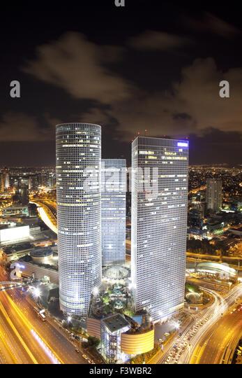 Azrieli Night Tel Aviv Israel Photos