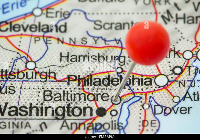 Baltimore City Map Stock Photos  Baltimore City Map Stock Images
