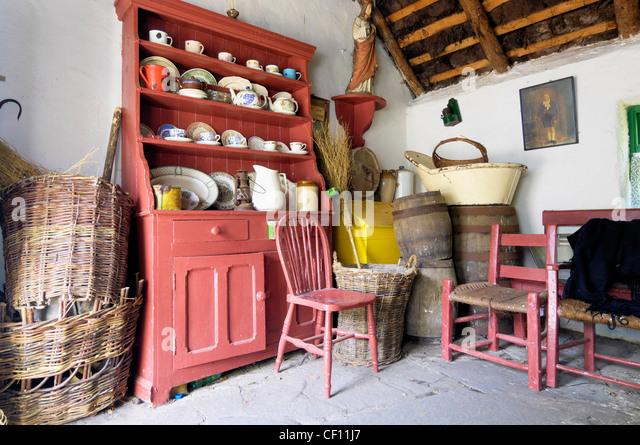 Irish Cottage Interior Kerry Bog Village Museum
