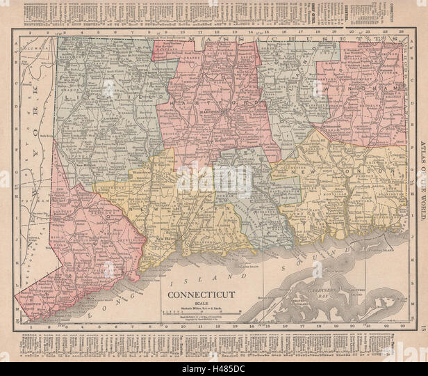 Connecticut State Map Stock Photos Connecticut State Map Stock - Connecticut state map
