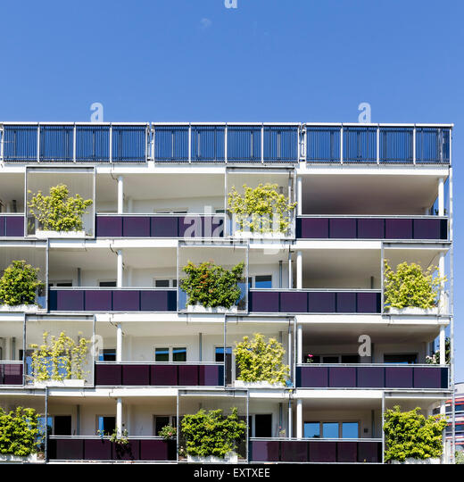 Captivating Modern Apartment Building In Hamburg   Stock Image