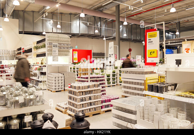 Captivating Warehouse Area Of Ikea Furniture Store   Stock Image