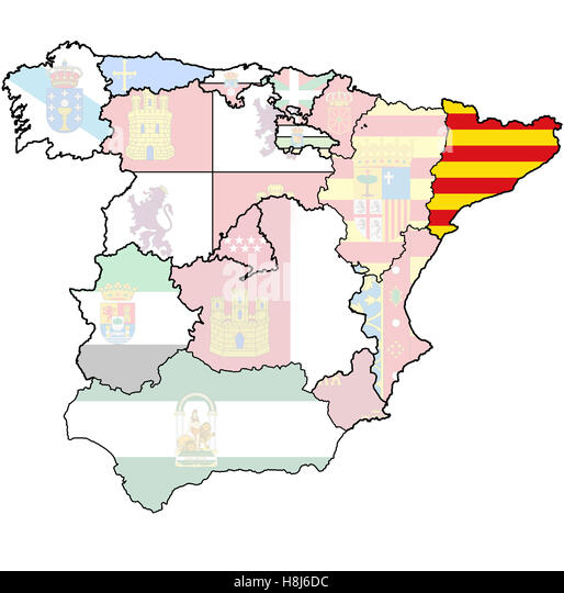 Spain Map Regions Stock Photos Spain Map Regions Stock Images - Spain regions map