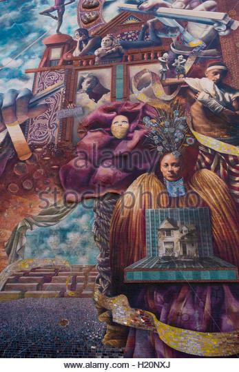 Mural art philadelphia usa stock photos mural art for Dr j mural philadelphia