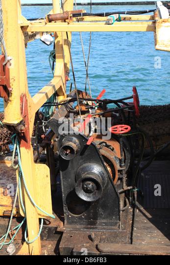 Fishing boat net winch stock photos fishing boat net for Commercial fishing gear