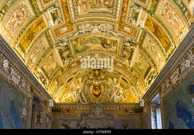 Gallery Maps In Thr Vatican Stock Photos  Gallery Maps In Thr