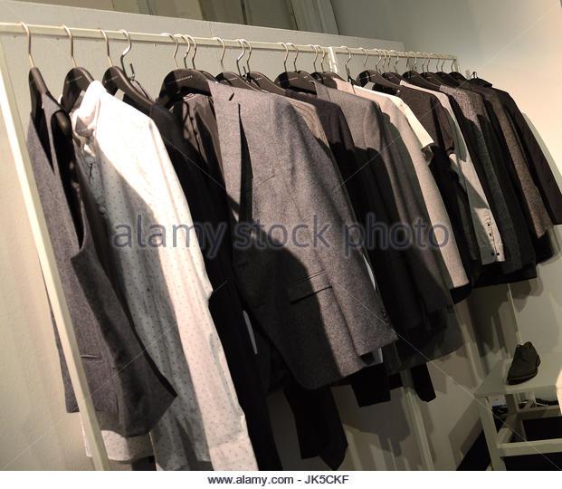 capi moda Banderas Design by selected homme. Milano  WHITE location con stand moda uomo e donna Italiana e Internazionale - Stock Image