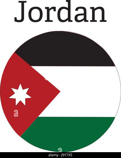 Jordan Flag 3d Illustration Symbol Stock Photos Jordan Flag 3d