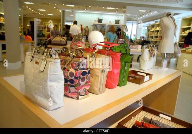 coach store outlet mall 80sn  Florida Estero Miromar Outlets shopping Coach Factory women's handbags  retail display for sale fashion accessories