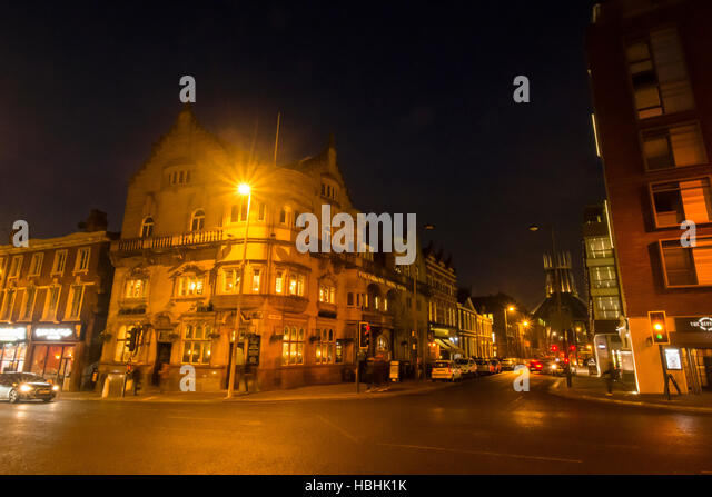 Philharmonic Pub and Dining Rooms at night in Hope Street  Liverpool     Stock Image. Philharmonic Dining Rooms In Hope Stock Photos   Philharmonic