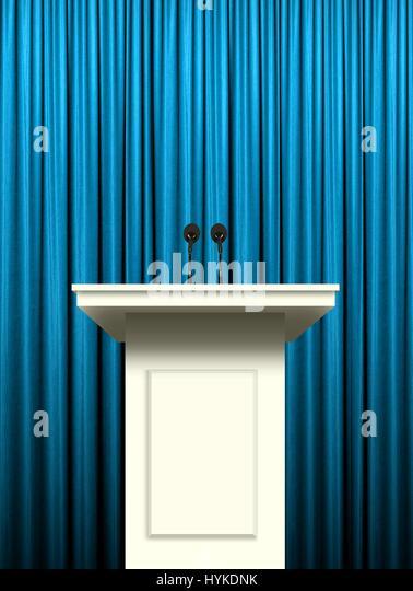 Podium With Curtains : Podium microphone curtain stock photos