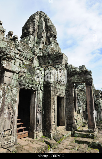 Mysterious Temples In World: Buddha Statue Bayon Temple In Stock Photos & Buddha Statue