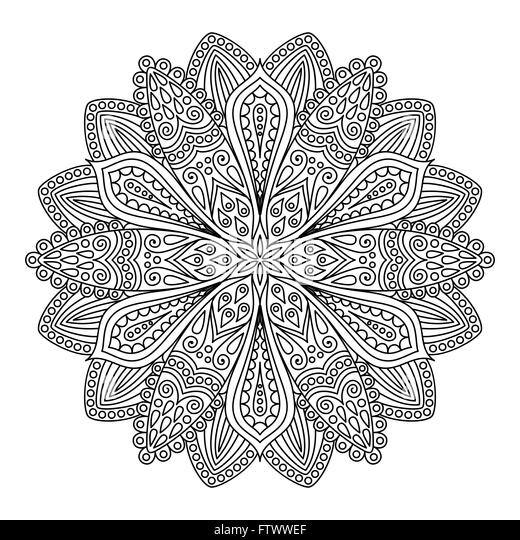 Galerry intricate flower coloring pages