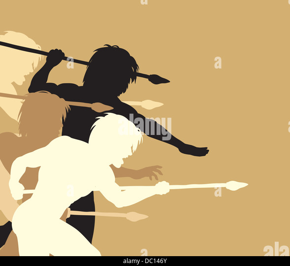 Caveman Spear : Cavemen spear stock photos images
