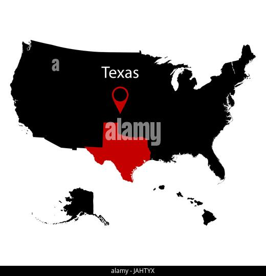 Map Of The U S State Of Texas Stock Image