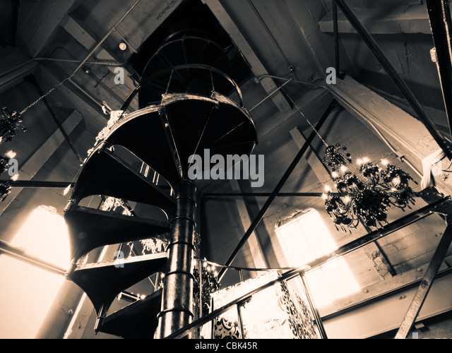 Spiral Staircase At The Top Of The Clock Tower On 16th Street Mall In Denver ,
