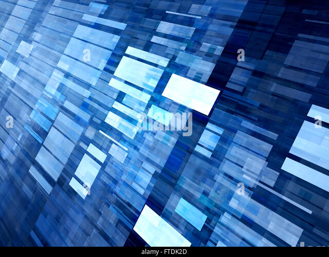 Blue rectangle abstract background stock photos blue for New tile technology