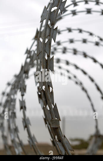Concertina Wire Stock Photos & Concertina Wire Stock Images - Alamy