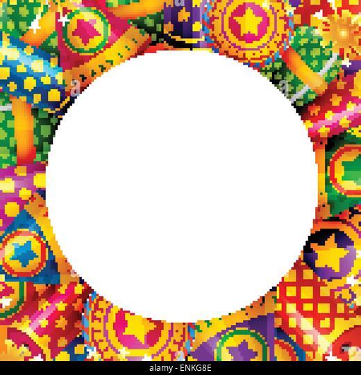 Vector Background Of Diwali Crackers
