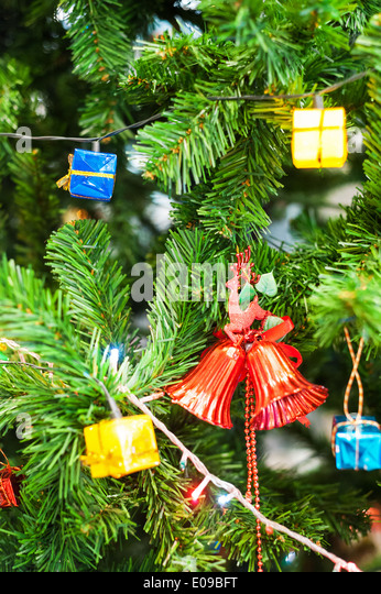Christmas Tree Recycling Gloucester : Christmas tree in street stock photos