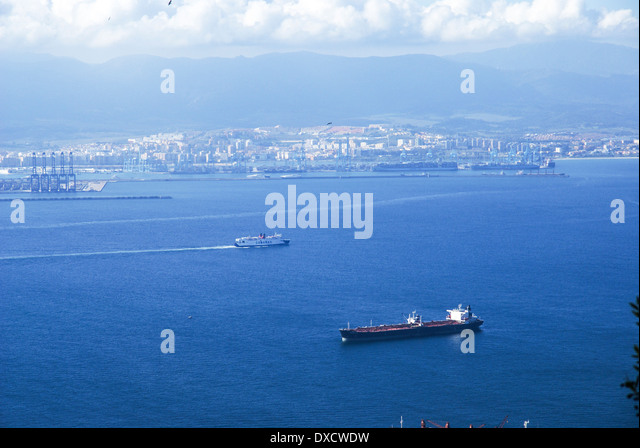 Strait gibraltar stock photos strait gibraltar stock - Moroccan port on the strait of gibraltar ...