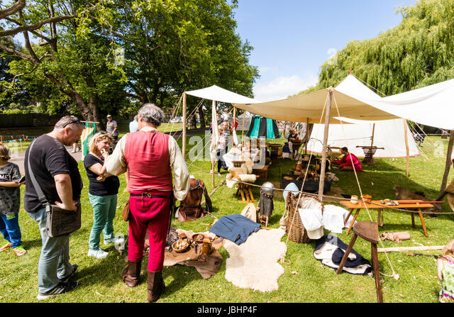 England Sandwich. Le Weekend. Anglo-French medieval enc&ment on the greens by & Tents Living History Stock Photos u0026 Tents Living History Stock ...